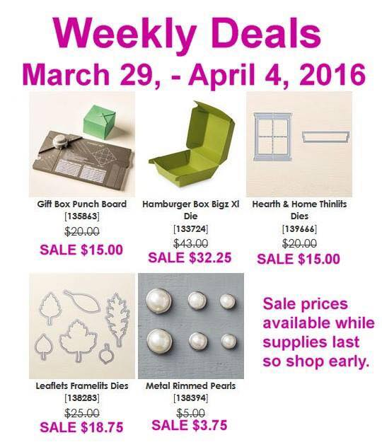 Weekly Deals March 29 - April 4, 2016